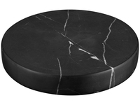 Marble Stone Charger Black
